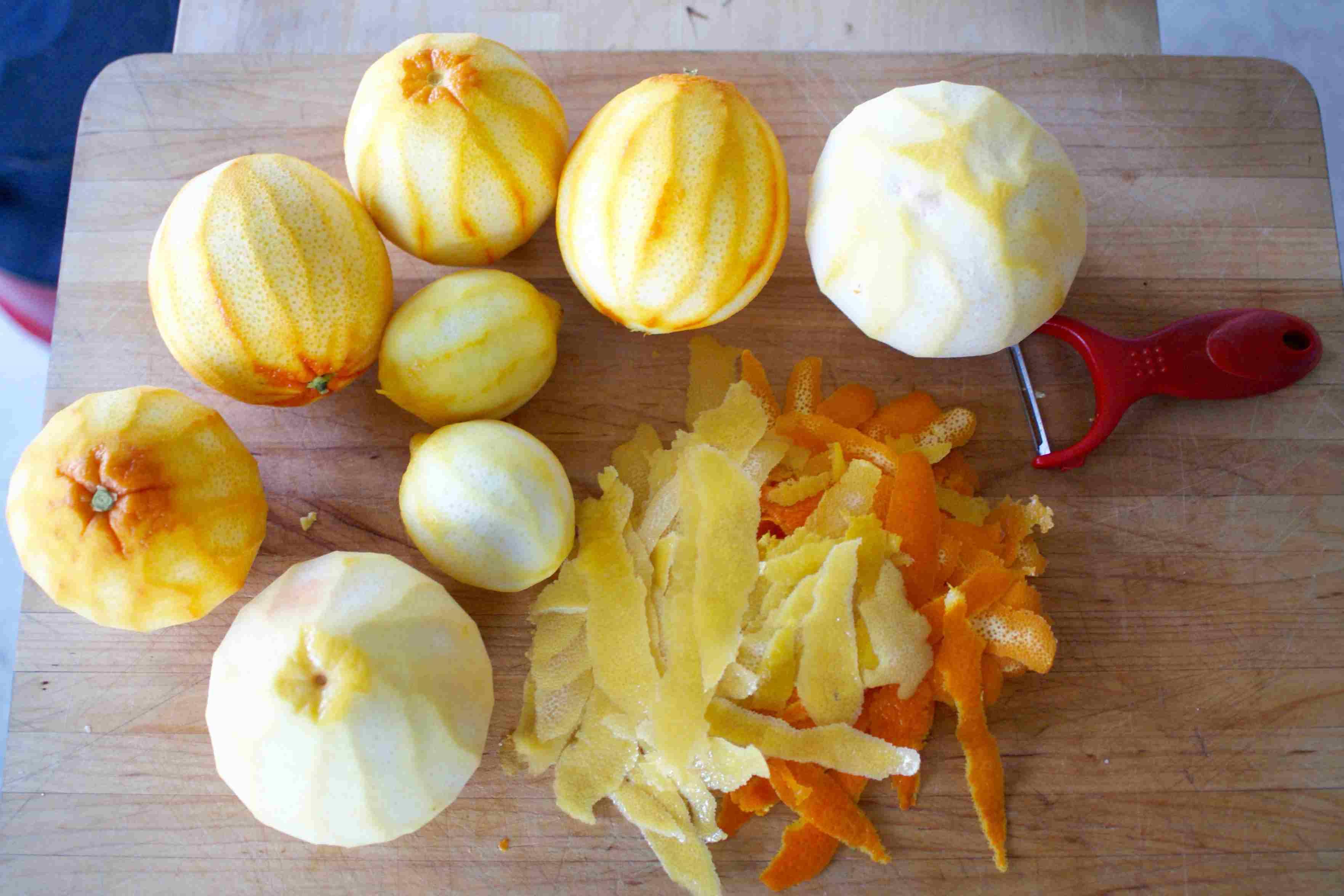 Zested citrus