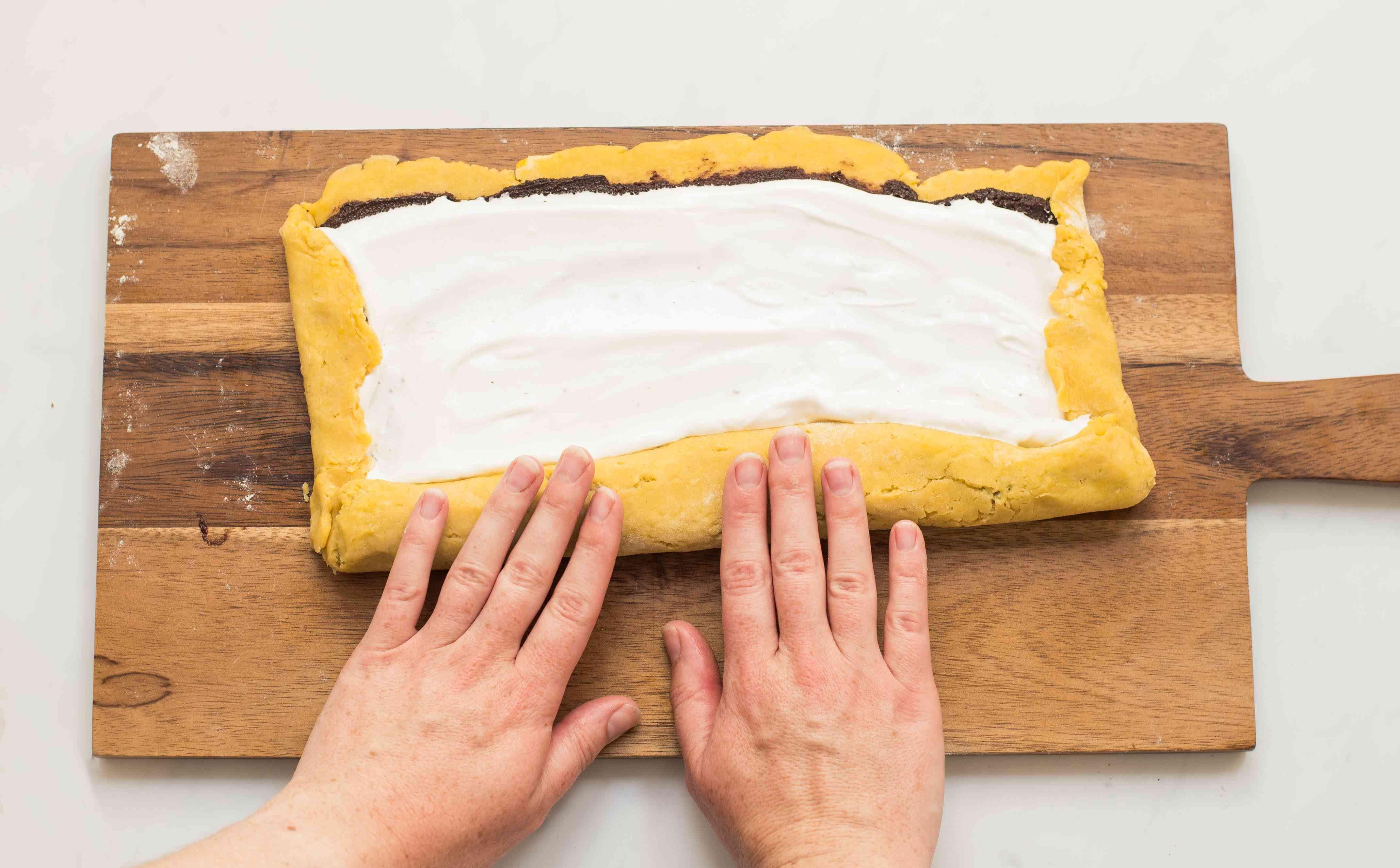 Fold in dough