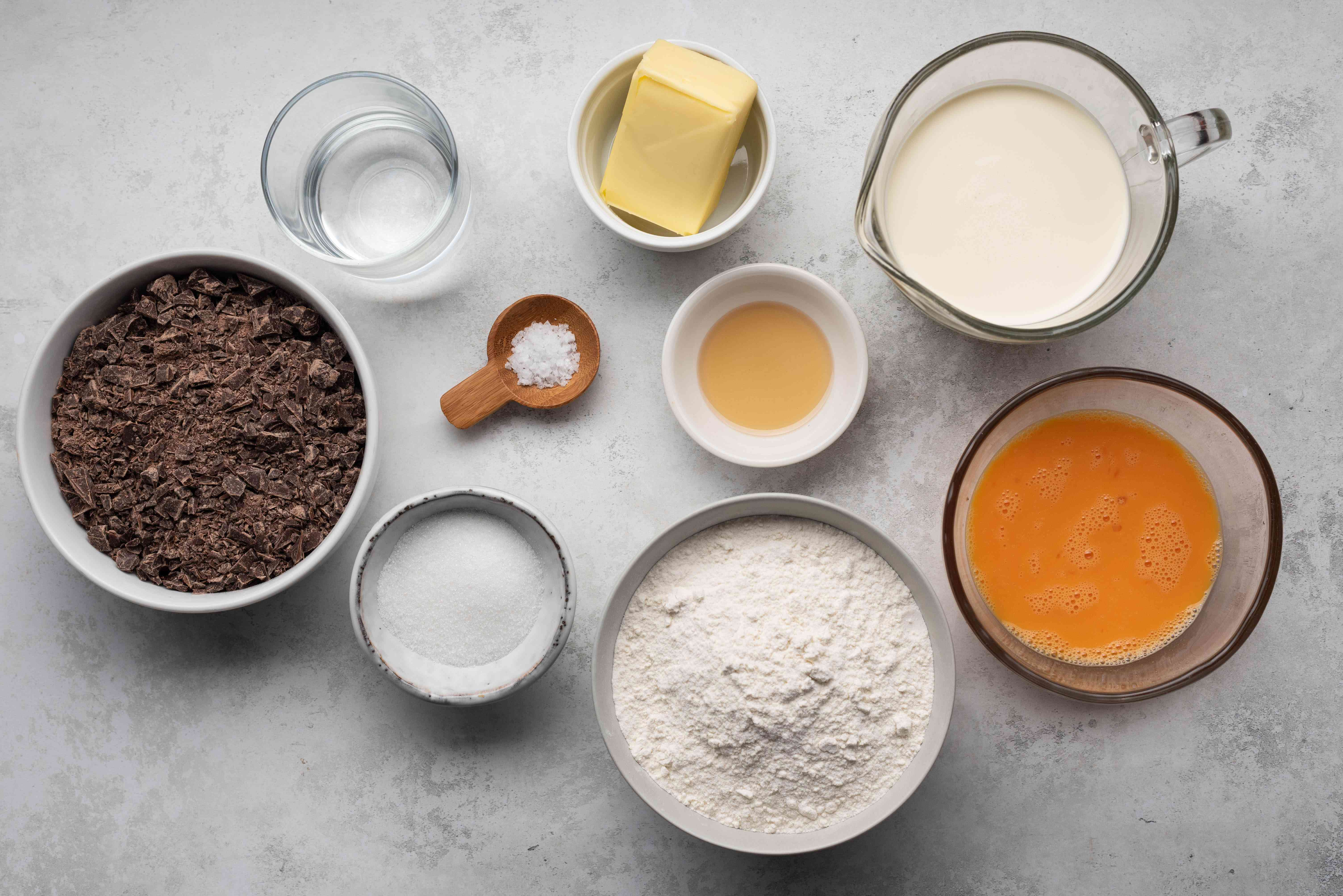 French Chocolate Tart Recipe ingredients
