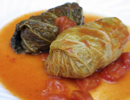 Stuffed cabbage rolls dinner