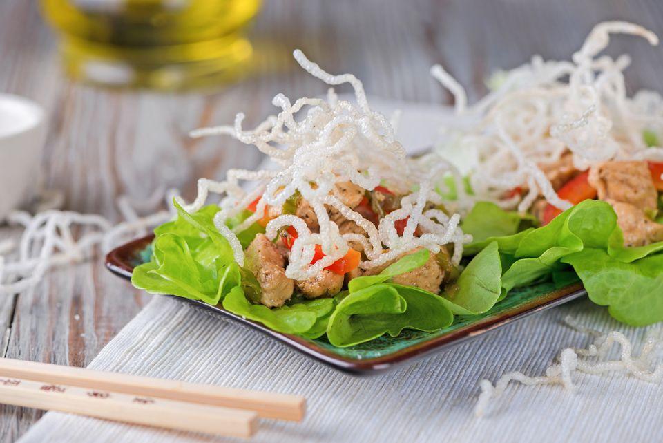 Crispy noodles lettuce wraps