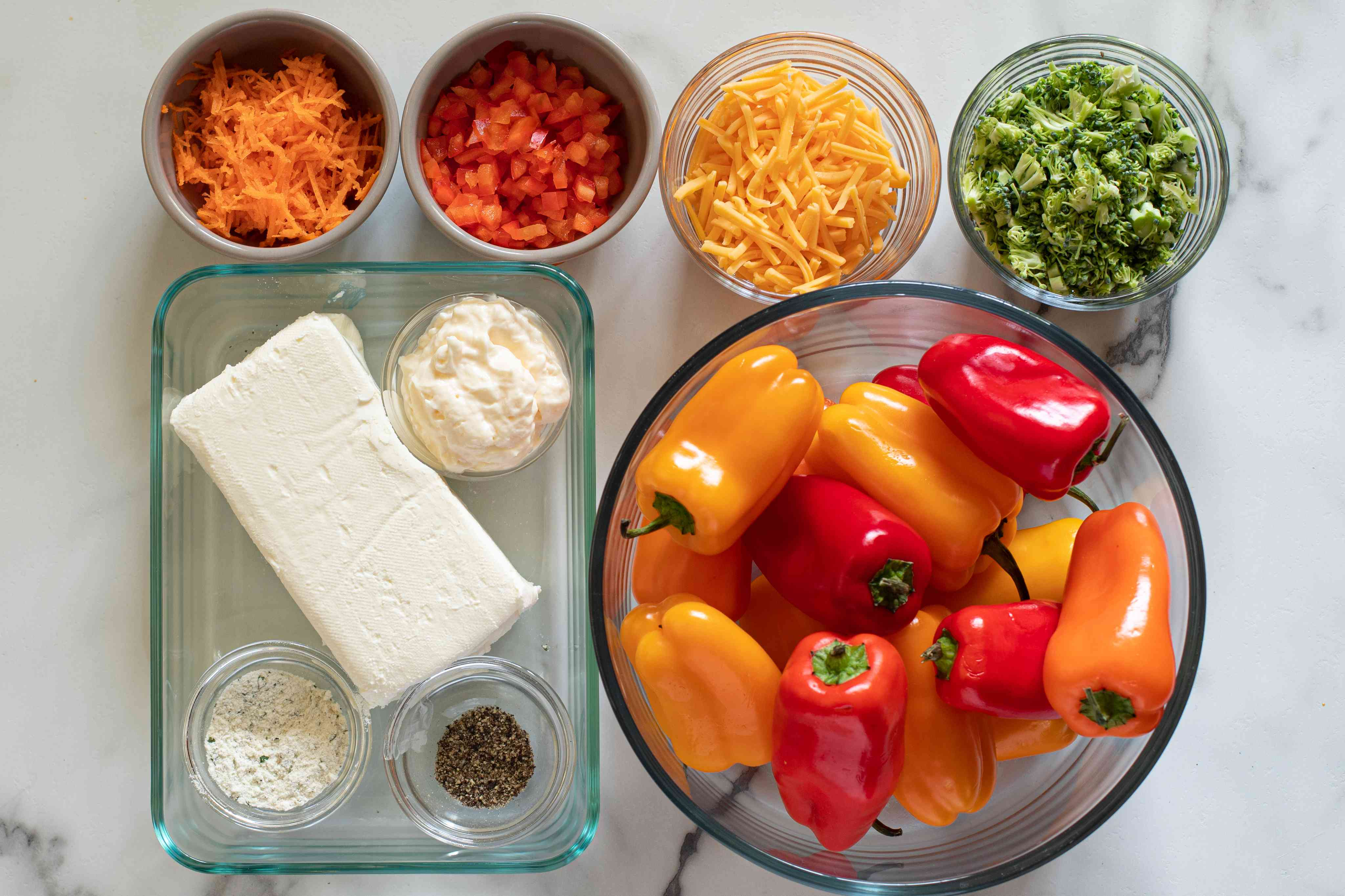 ingredients for stuffed mini peppers