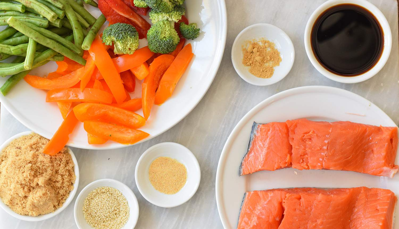 Sheet Pan Salmon ingredients