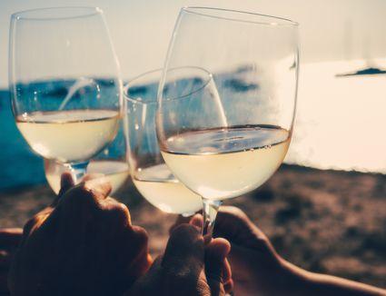White Wine on the Beach
