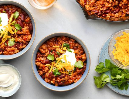 Classic Chili in bowls
