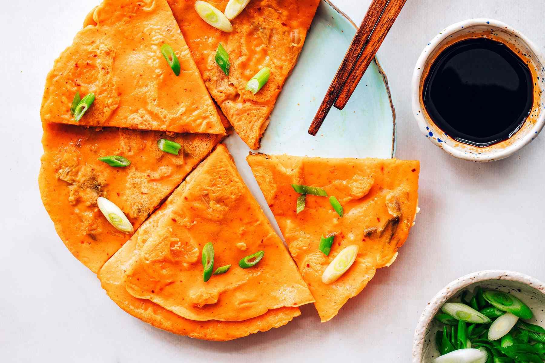 Korean Kimchi Pancakes