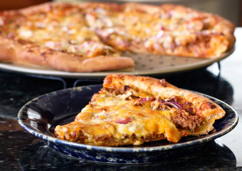 Bread Machine Pizza Dough and Sloppy Joe Pizza