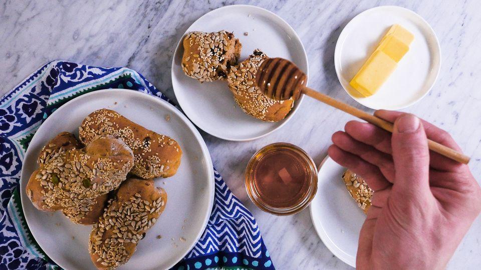 Rollitos crujientes de desayuno dulce