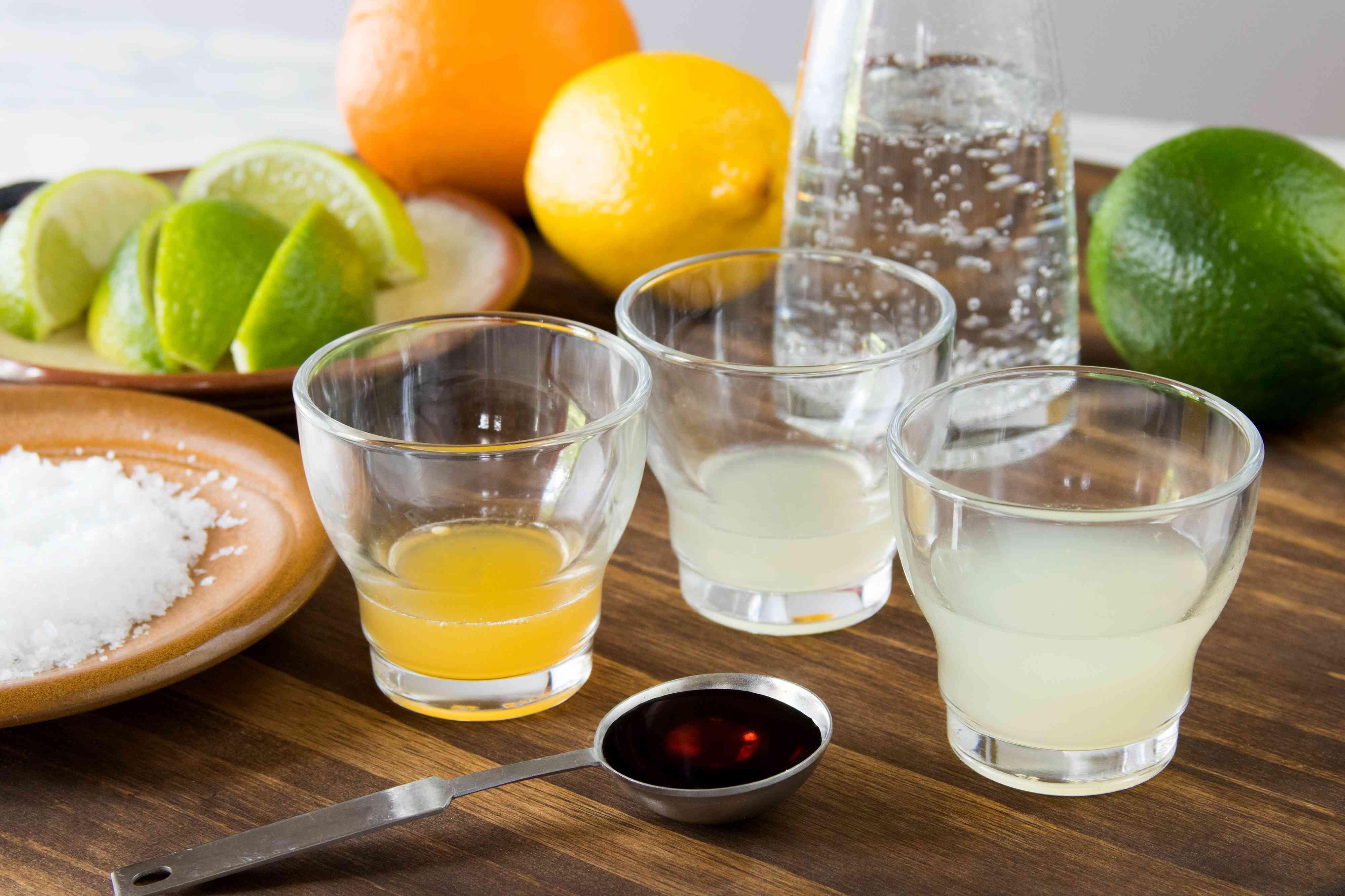 Ingredients for a Fresh Virgin Margarita