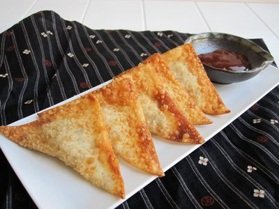 Easy recipe for basic japanese tempura batter easy recipe for making healthier ground beef wontons at home 45 mins ratings japanese side dishes forumfinder Image collections