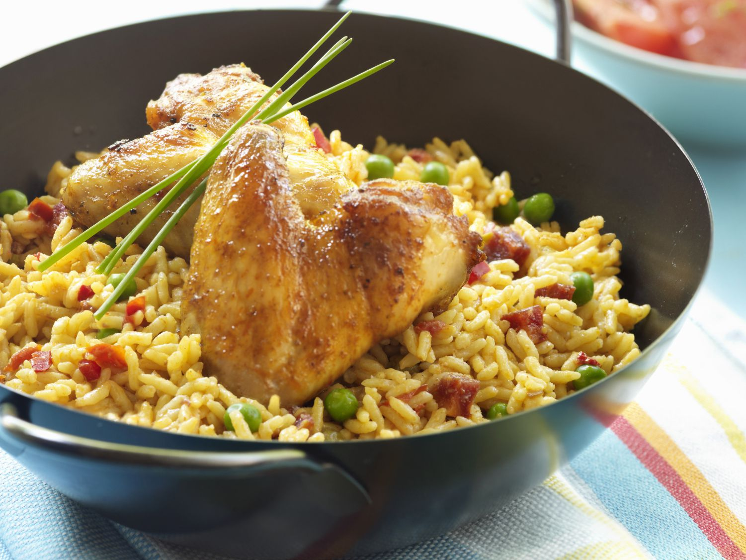 Baked Chicken With Yellow Rice Recipe