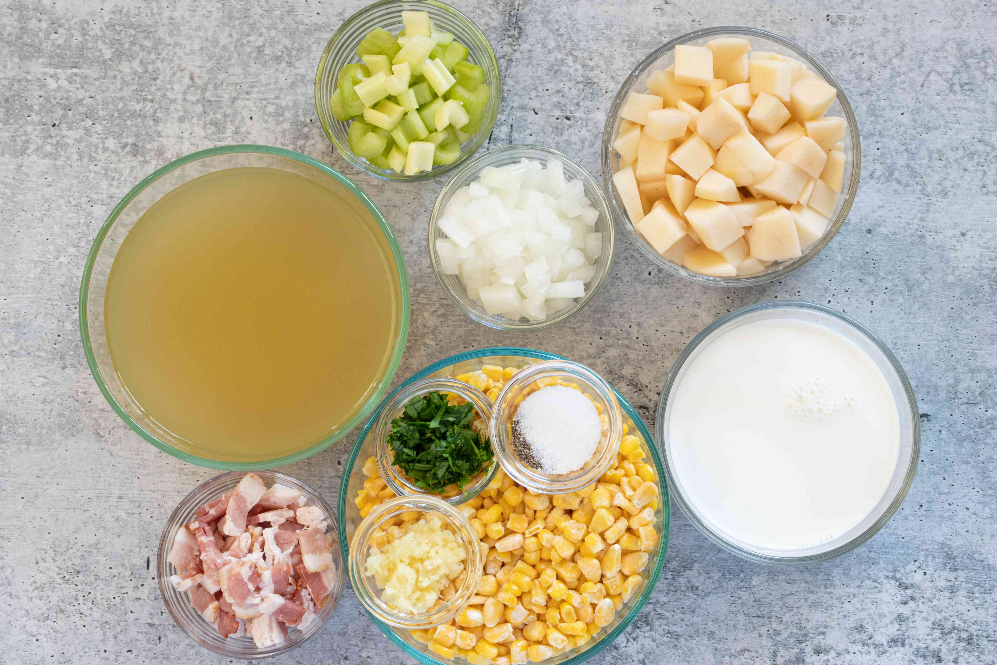 ingredients for instant pot corn chowder