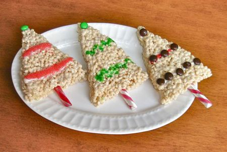 christmas rice crispy treats