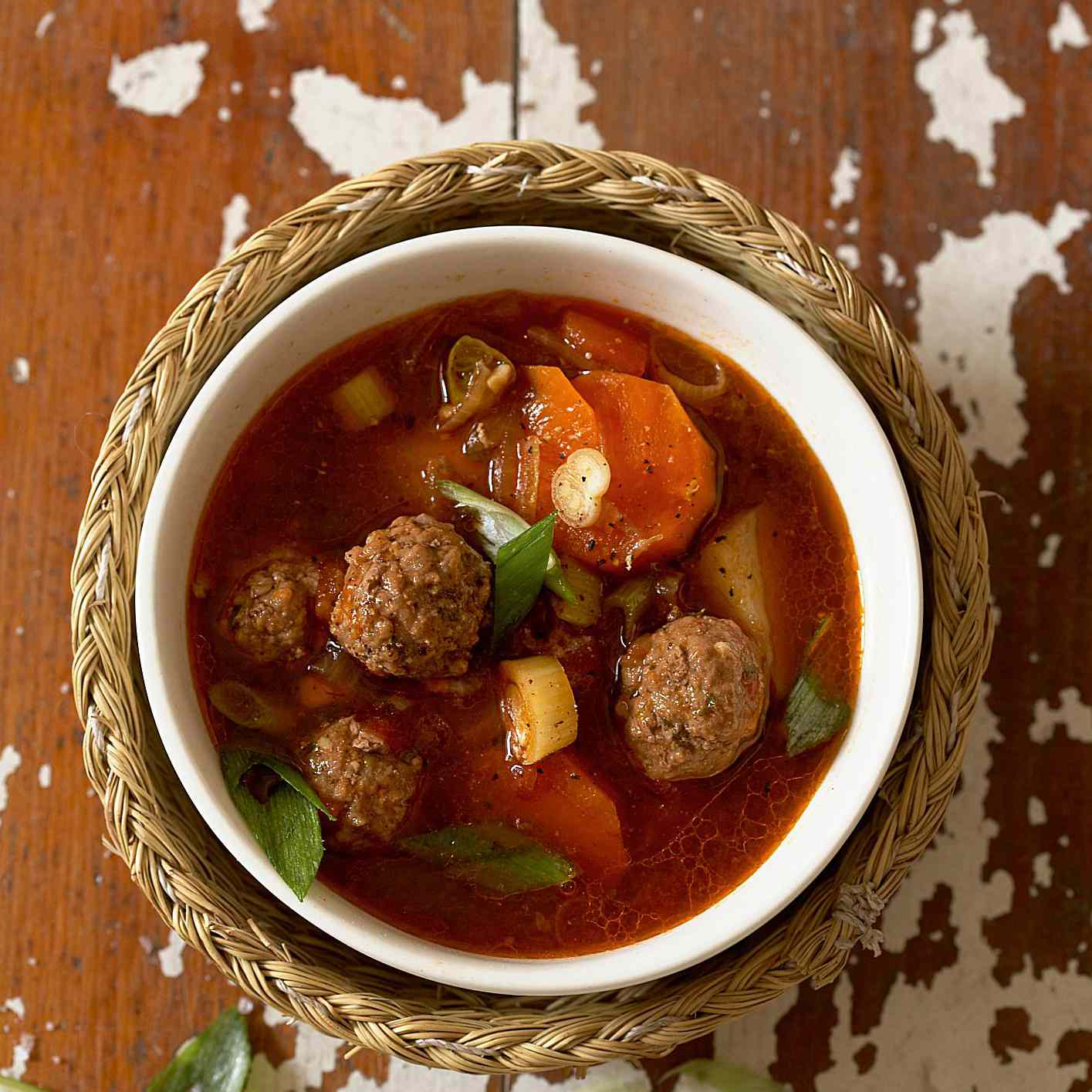 Easy Crock Pot Meatball Soup