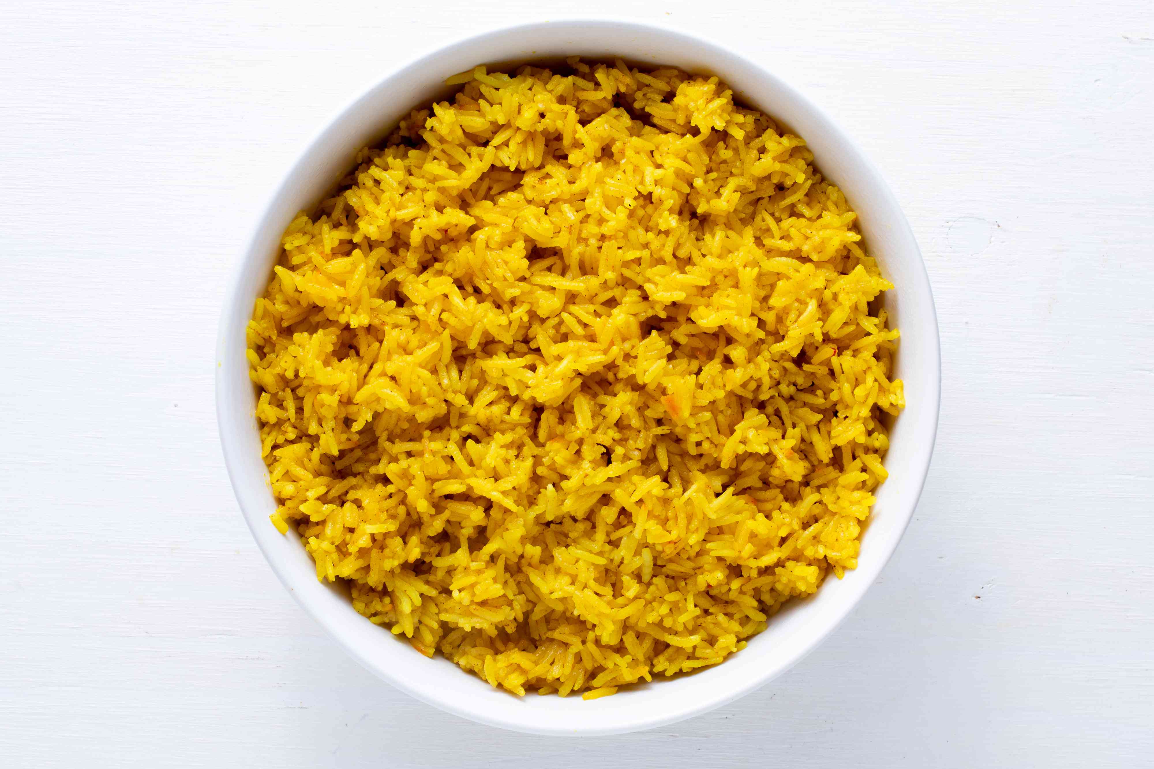 Rice Cooker Saffron Rice in a bowl