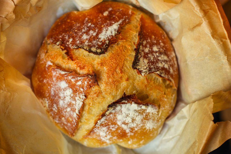 Round artisan sourdough bread