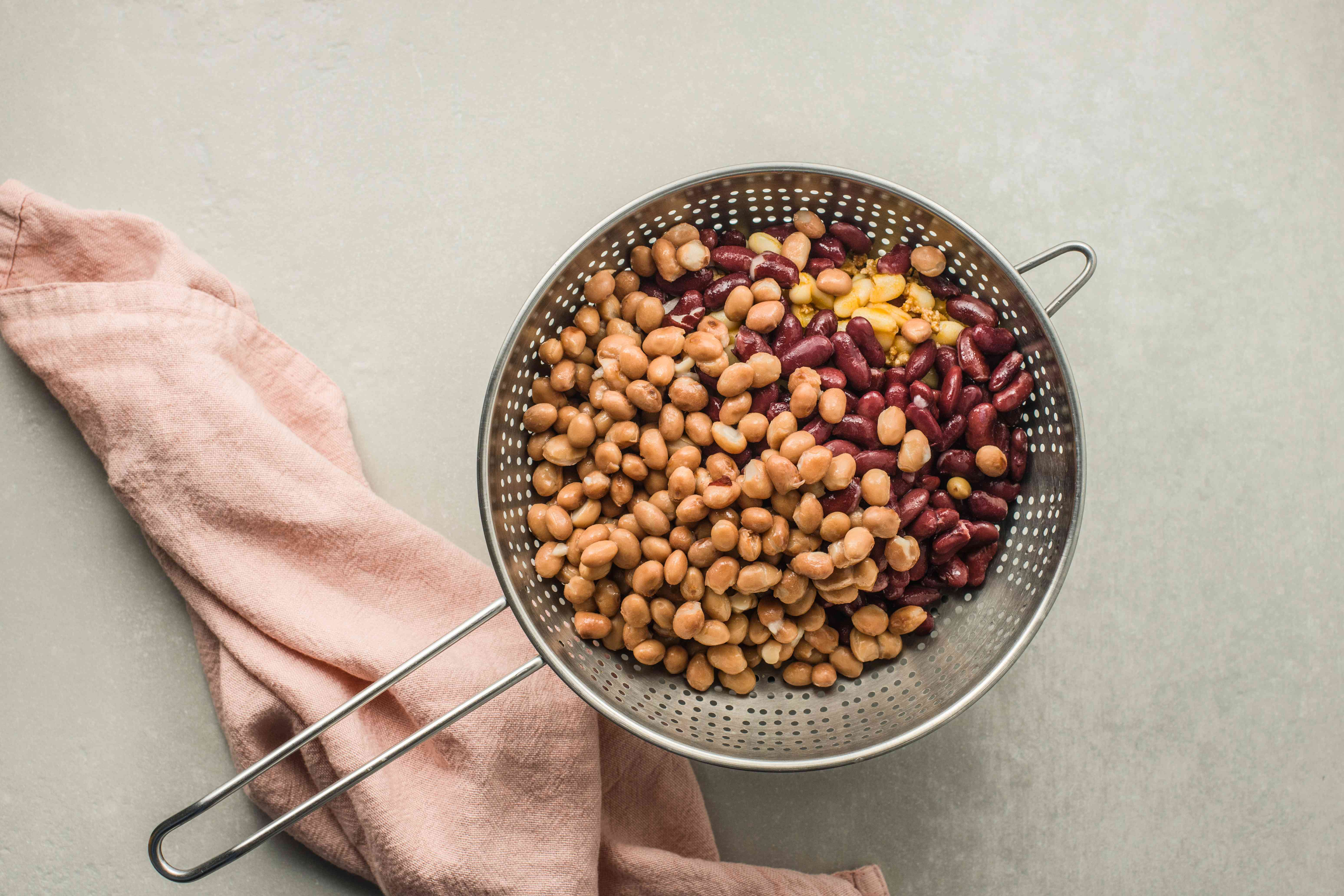 Drain canned beans