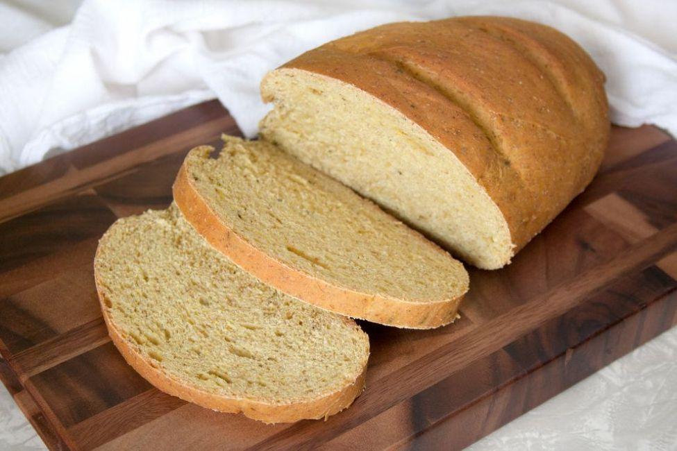 Easy Turmeric-Basil Rye Bread