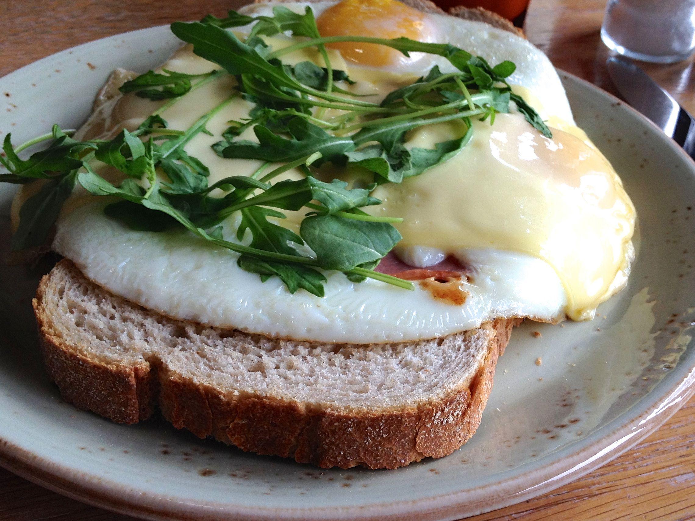 Fried Eggs And Ham Breakfast Dutch Style