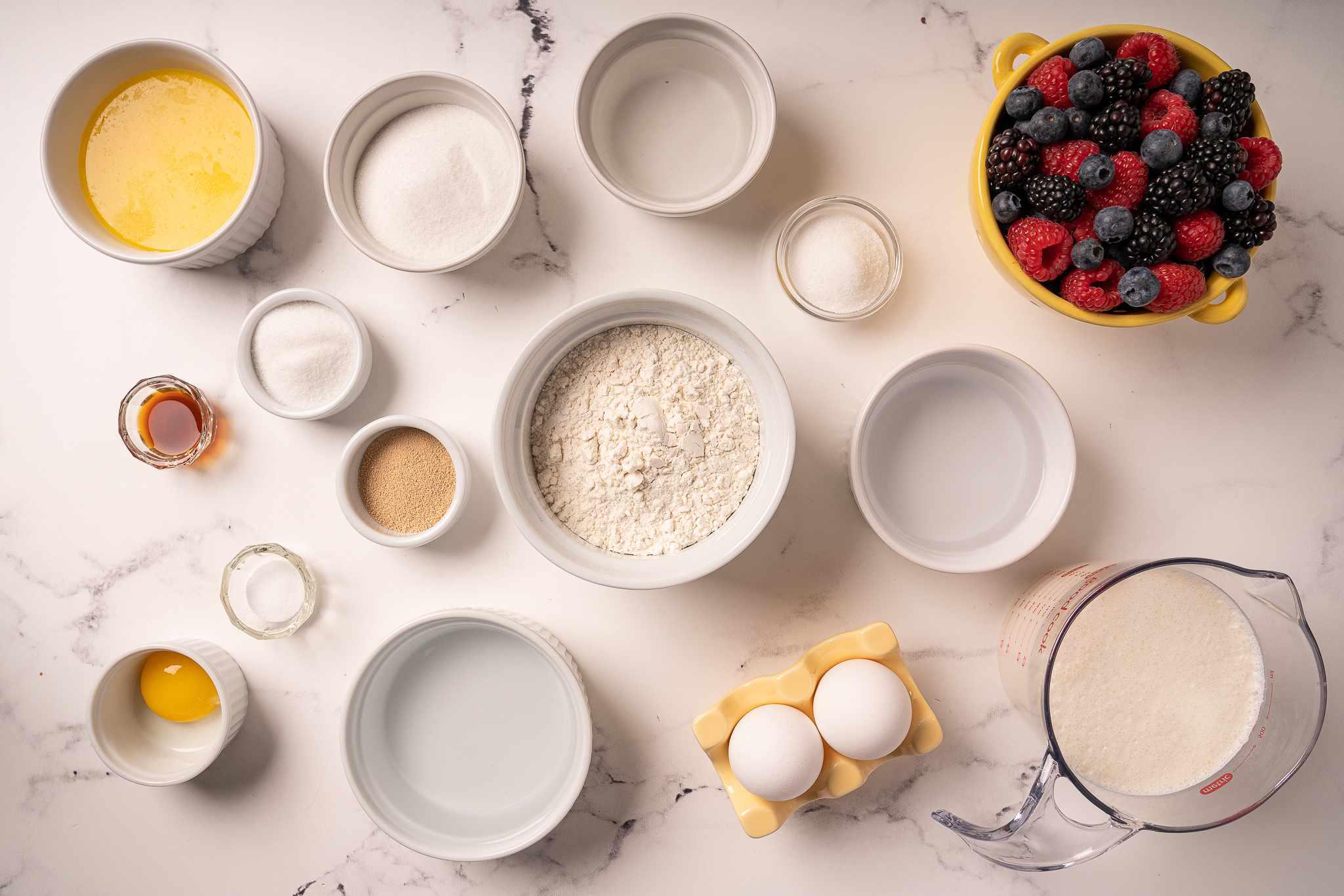 Savarin ingredients