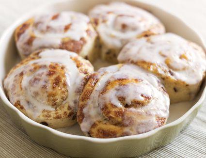Homemade cinnamon breakfast rolls