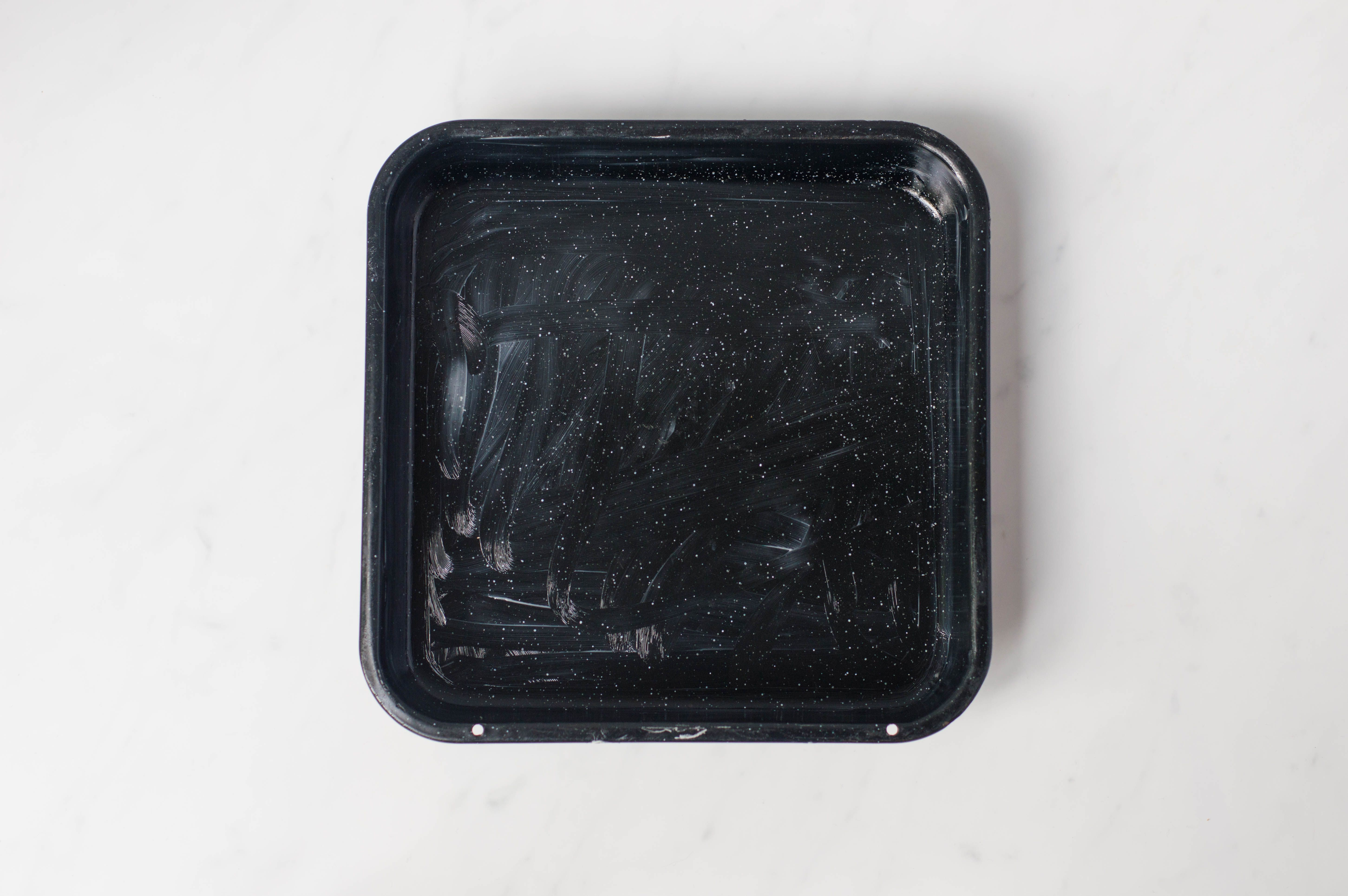 A greased 8 x 8-inch pan