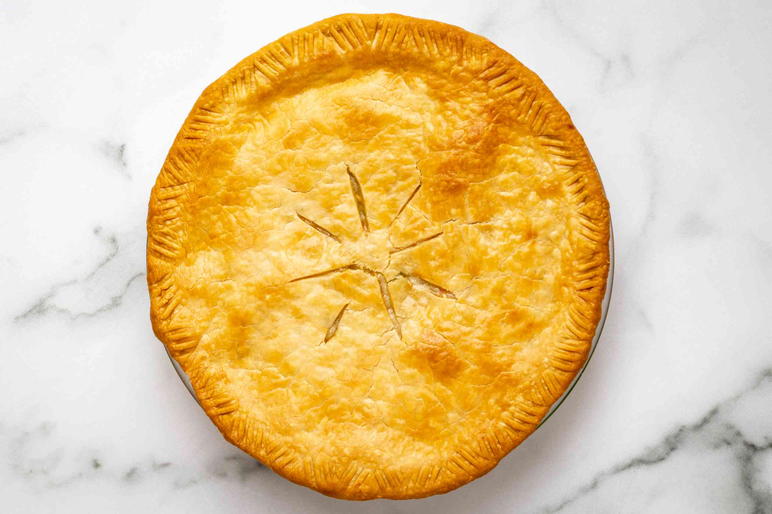 turkey pot pie baked