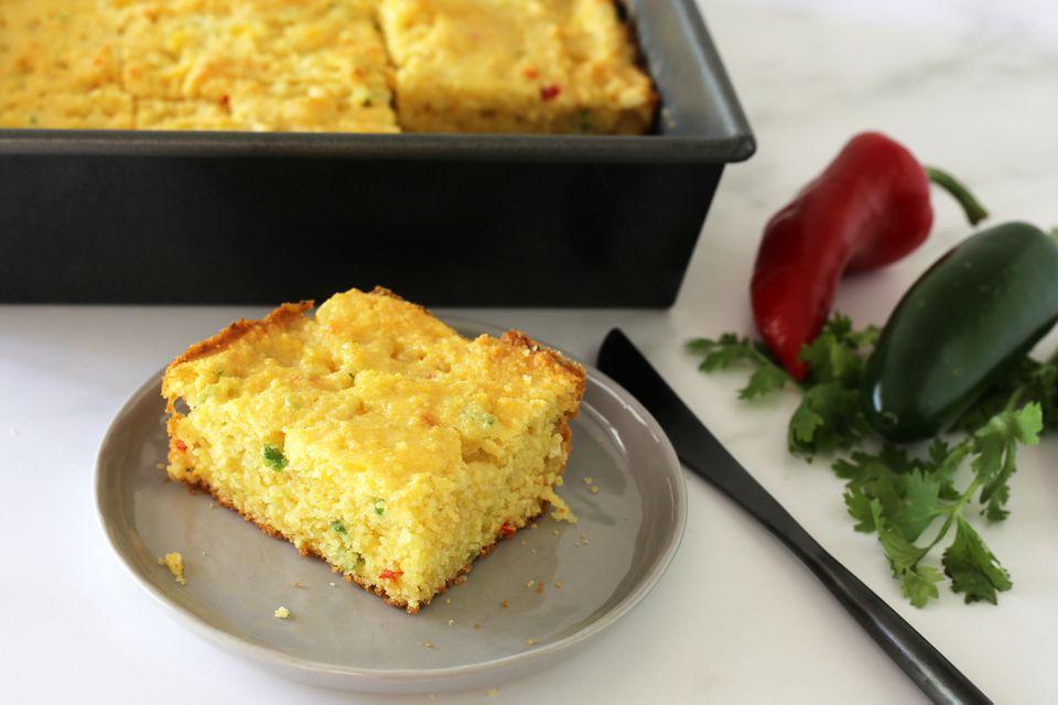 Buttermilk jalapeño cornbread with cheese