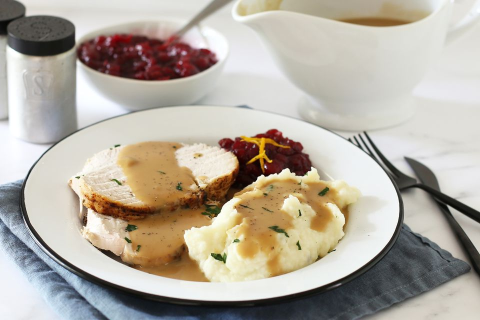 Instant Pot turkey breast plated