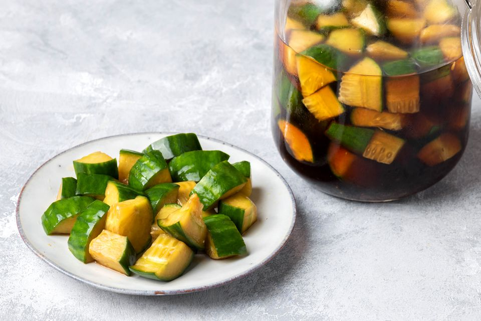 Japanese Soy-Vinegar Pickled Cucumbers