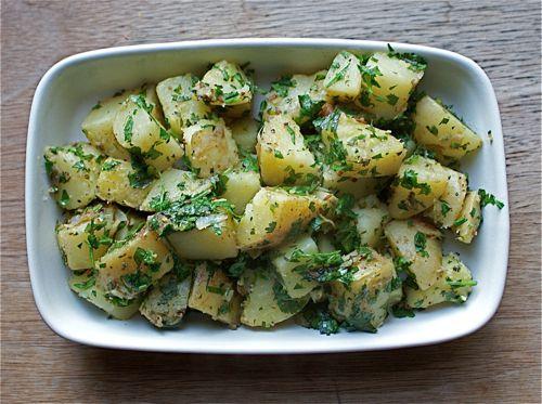 Potatoes In Cilantro Sauce