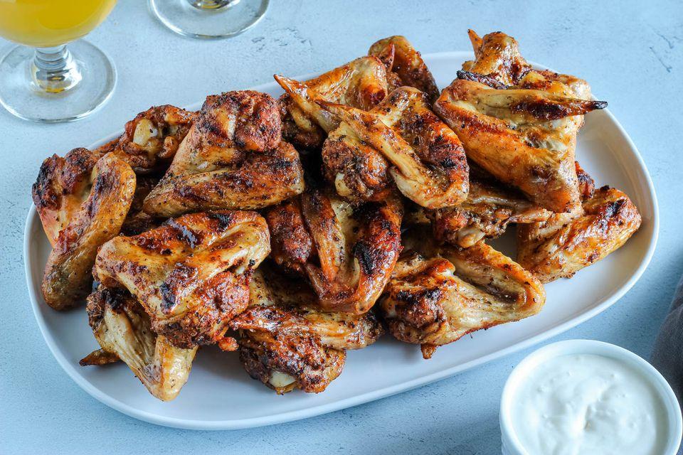 Alitas de pollo a la parrilla picantes