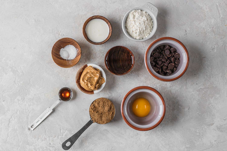 Peanut Butter Mug Cake ingredients