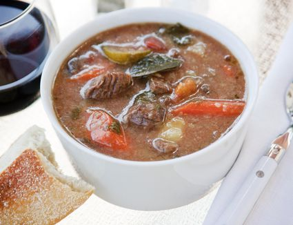 Bowl of grass fed beef stew