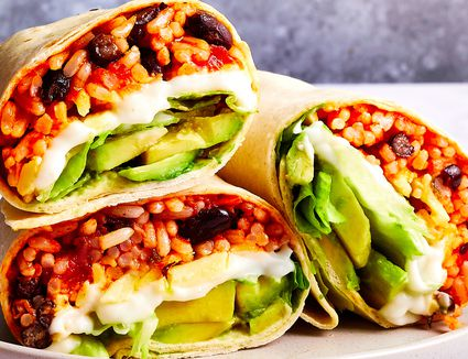 Rice and Bean Burrito