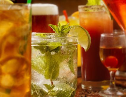 A variety of cocktails and mixed drinks
