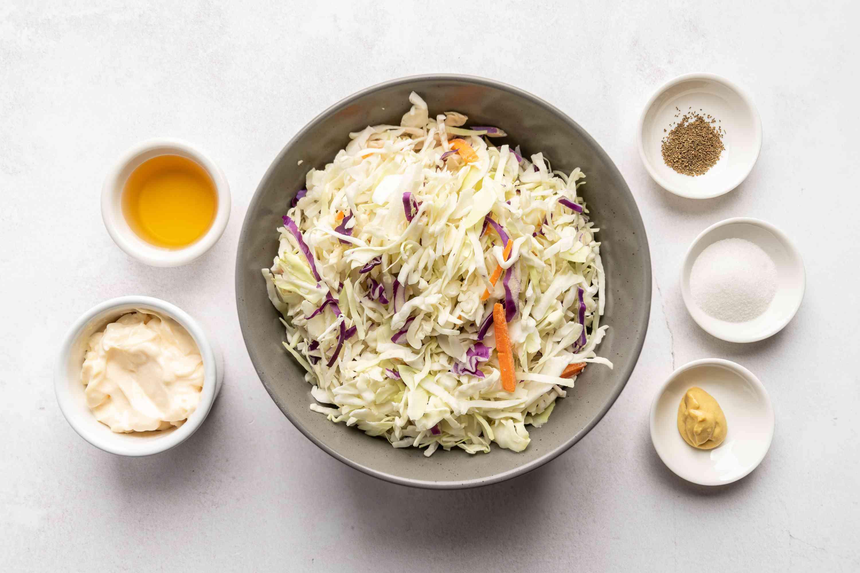 Easy Low Fat Coleslaw ingredients