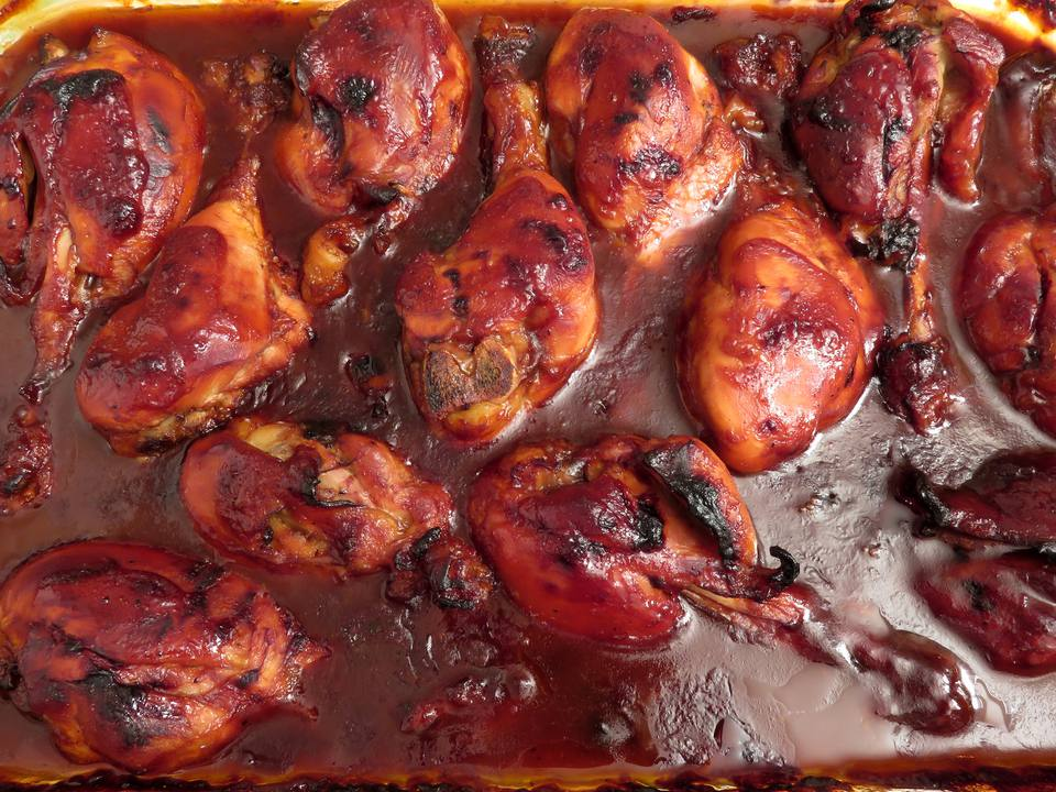 Baked Barbecue Chicken Drumsticks