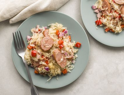German sausage and sauerkraut recipe