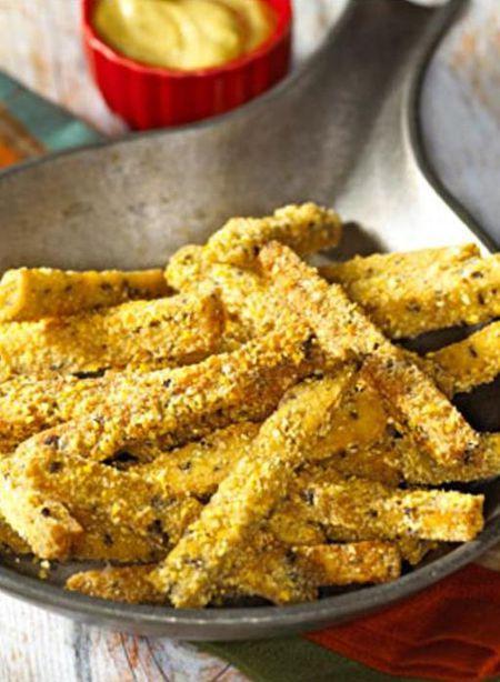 Easy Vegetarian Tempeh Fries A High Protein Vegan Snack
