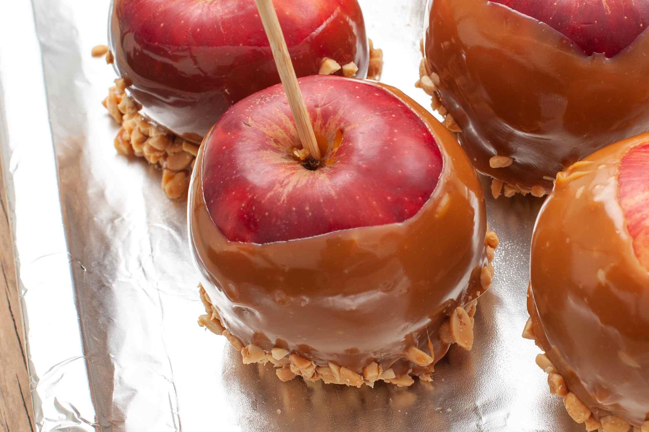 Chill apples in fridge