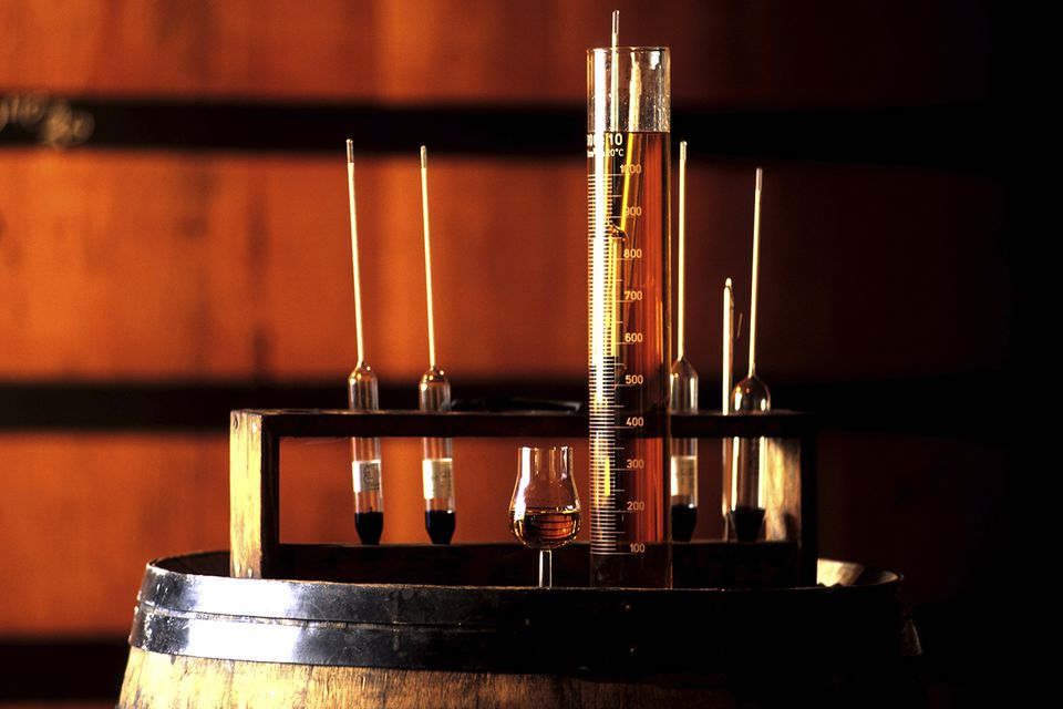 Brandy is tested throughout distillation and aging until the distiller and blender feel it is up to brand standards.