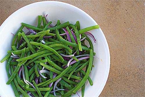 Green Bean Red Onion Salad