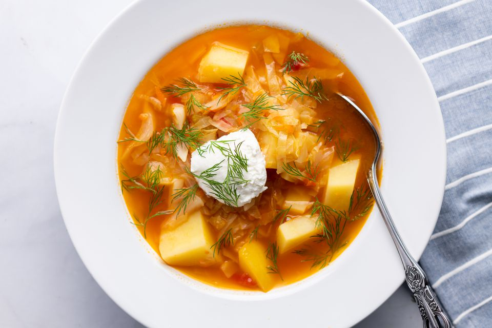 Traditional Russian Cabbage Soup (Shchi)