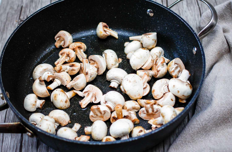 add mushrooms to hot pan
