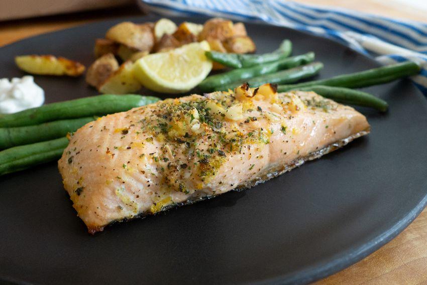 EveryPlate salmon on plate