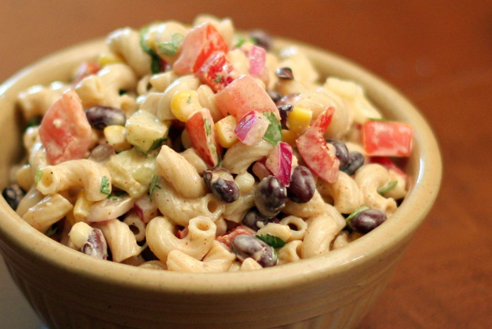 Macaroni Salad with Black Beans