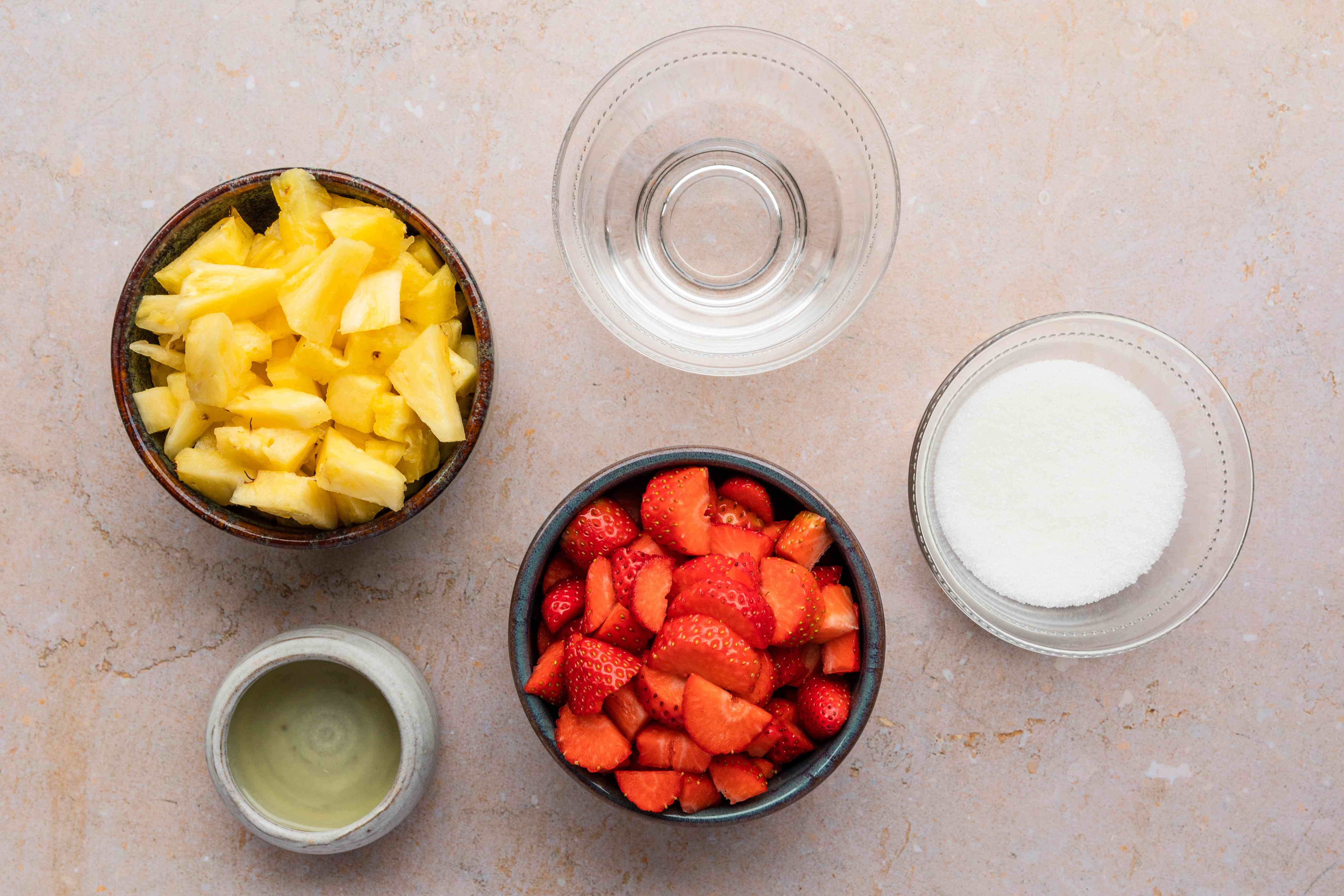 Ingredients for Mexican paletas