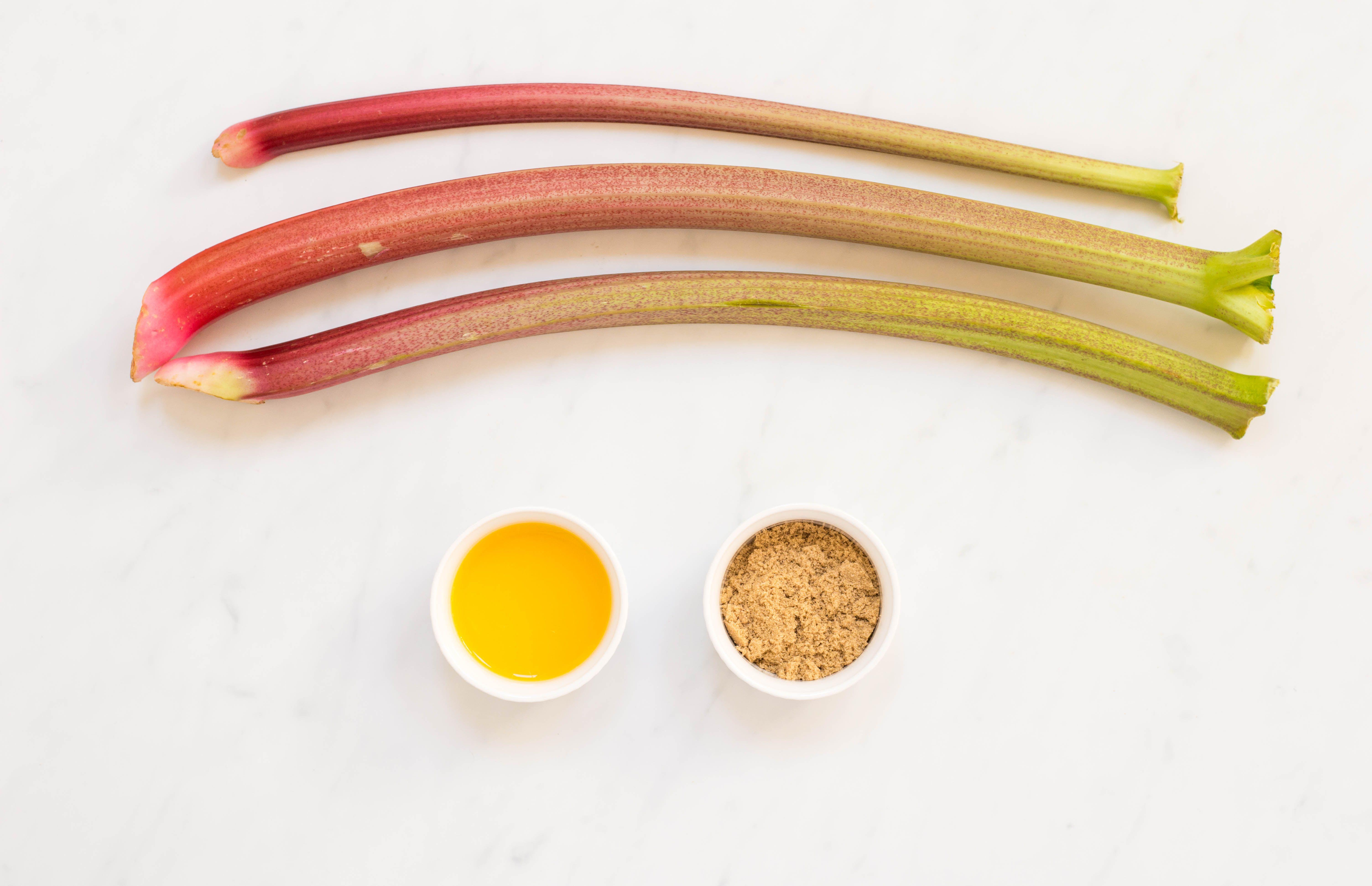 Ingredients for roasted rhubarb
