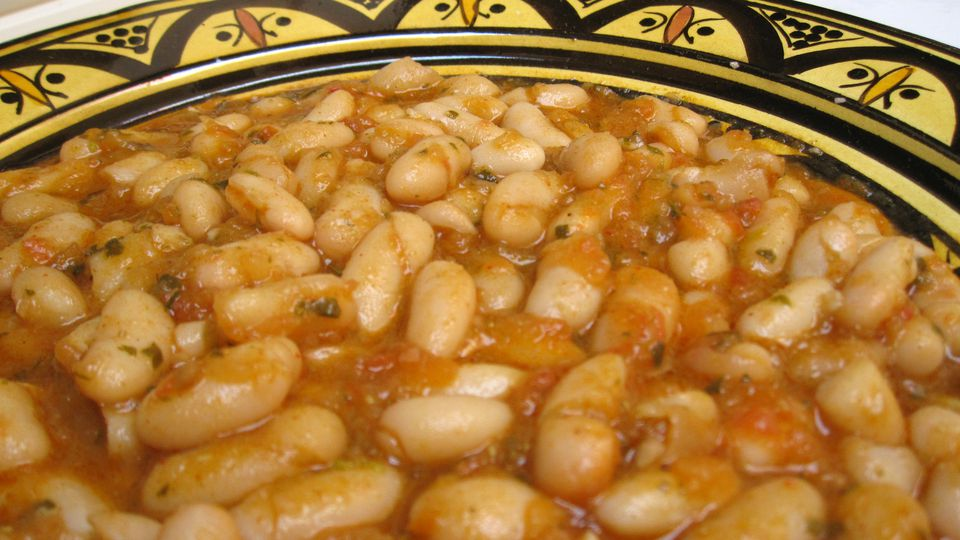 Moroccan Stewed White Beans